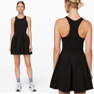 NWT Lululemon Court Crush Tennis Dress Black 6